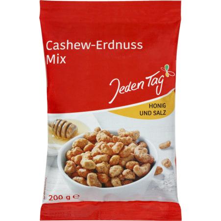 Jeden Tag Cashew-Erdnuss Mix Honig und Salz