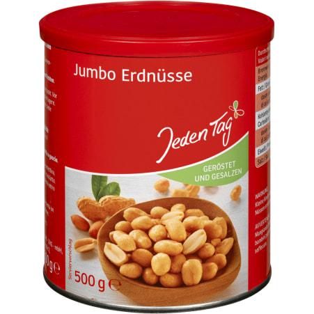 Jeden Tag Erdnüsse gesalzen Jumbo
