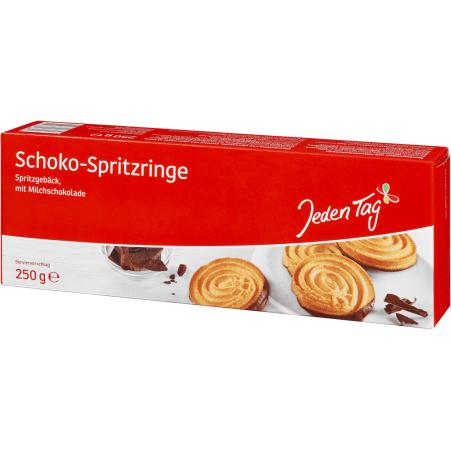 Jeden Tag Schoko Spritzringe