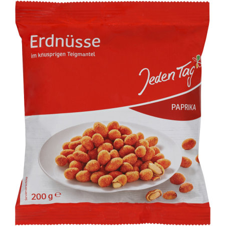 Jeden Tag Erdnüsse im Teigmantel Paprika