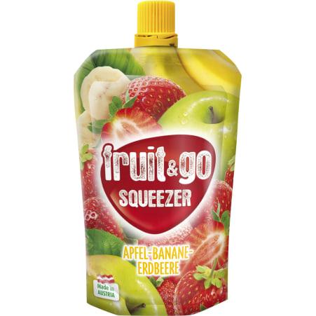 fruit&go SQUEEZER Squeezer Erdbeere-Banane