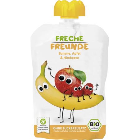 Freche Freunde Bio Quetschie Apfel-Banane-Himbeere