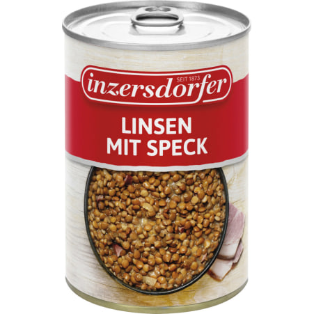 Inzersdorfer Linsen mit Speck