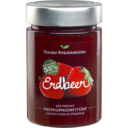 Tiroler Früchteküche Premiumkonfitüre Erdbeer 55% Frucht