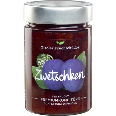Tiroler Früchteküche Zwetschken Premiumkonfitüre 55% Frucht