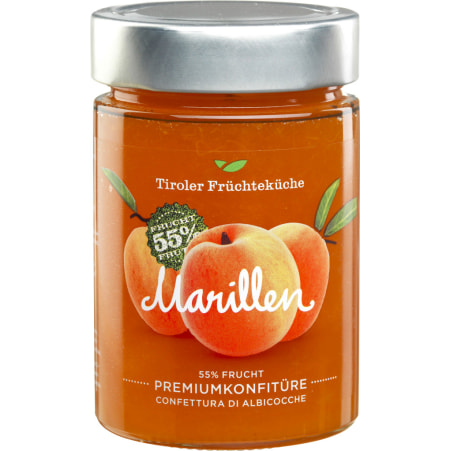 Tiroler Früchteküche Marillenkonfitüre 55% Frucht