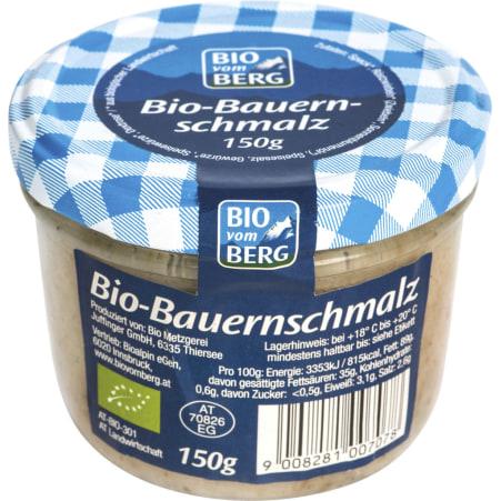 BIO vom BERG Bio Bauernschmalz