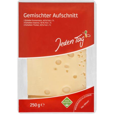 Jeden Tag Gemischter Käseaufschnitt