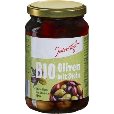 Jeden Tag Bio Griechische Oliven gemischt mit Stein