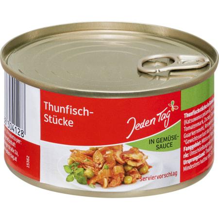 Jeden Tag Thunfisch in Gemüse