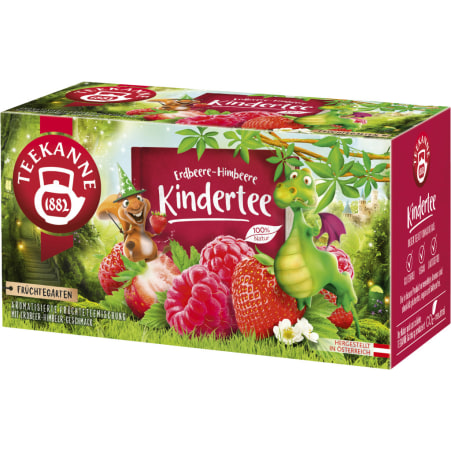 TEEKANNE Früchtegarten Erdbeere-Himbeere Kindertee
