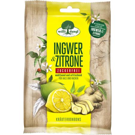 DUNGL Bonbons Ingwer-Zitrone ohne Zucker