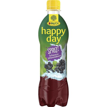 Rauch Happy Day Schwarze Johannisbeere gespritzt 0,5 Liter