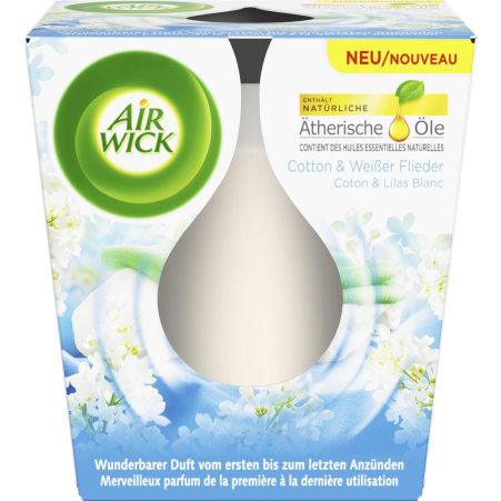 Air Wick Duftkerze Cotton & Flieder