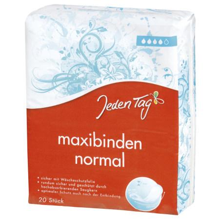 Jeden Tag Maxibinden Normal 20er-Packung