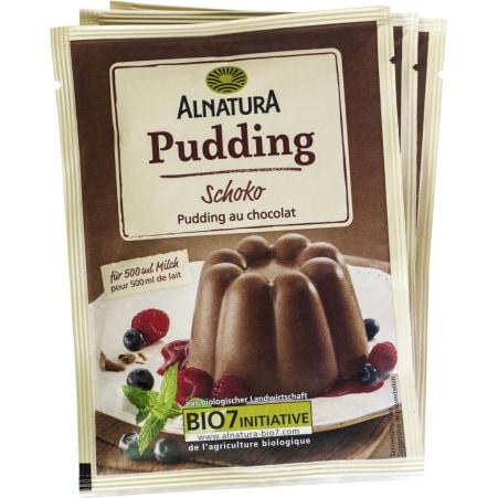 Alnatura Bio Pudding Schoko Pulver 3er-Packung