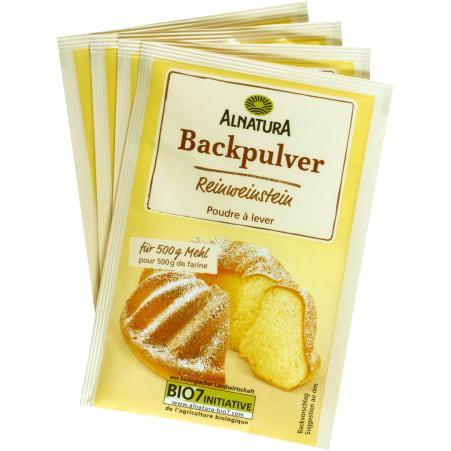 Alnatura Bio Backpulver Reinweinstein 4er-Packung