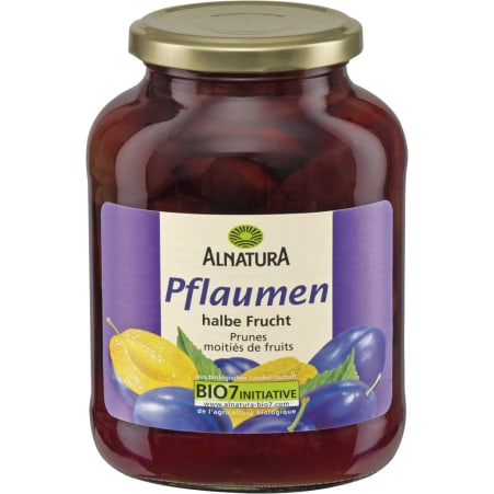 Alnatura Bio Pflaumen halbe Frucht