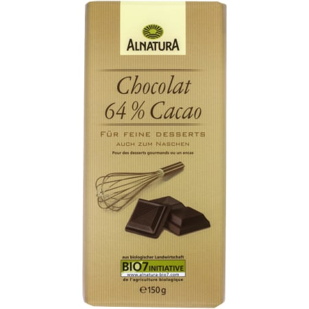 Alnatura Bio Chocolat 64% Cacao
