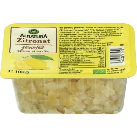 Alnatura Bio Zitronat gewürfelt