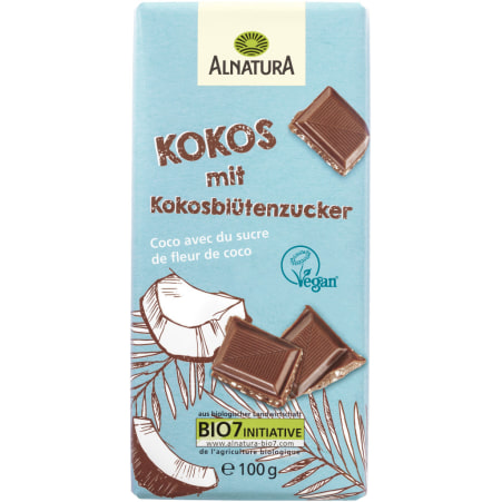 Alnatura Bio Schokolade Kokos mit Kokosblütenzucker