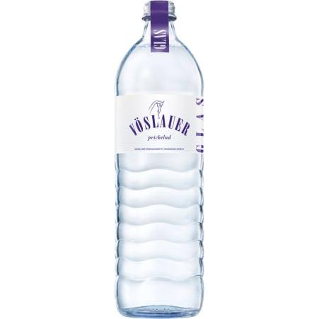 Vöslauer Mineralwasser prickelnd 1,0 Liter Glas