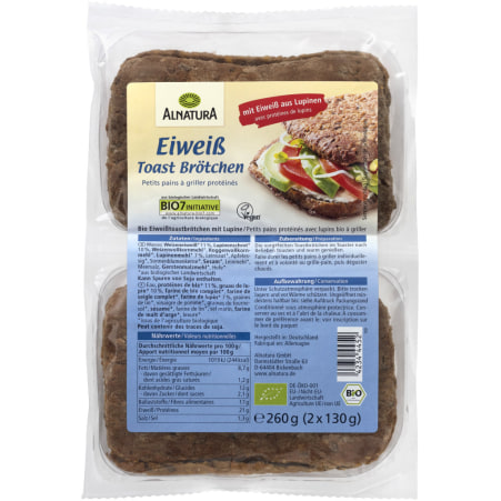 Alnatura Bio Eiweiß-Toastbrötchen