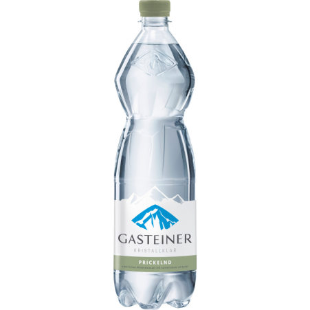 Gasteiner Mineralwasser Kristallklar Mineralwasser prickelnd Tray 6x 1,0 Liter