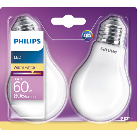 LEDCl 60W E27 WW 806lm matt DUO LED warm weiß matt 60 Watt 806 Lumen E27