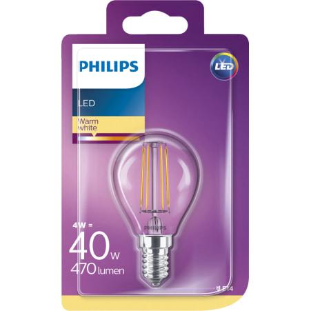 Philips LED Tropfen klar 40 Watt E14