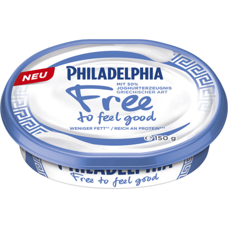PHILADELPHIA Frischkäse Free to feel good griechisch