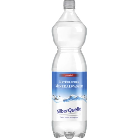 SilberQuelle Mineralwasser belebend 6x 1,5 Liter