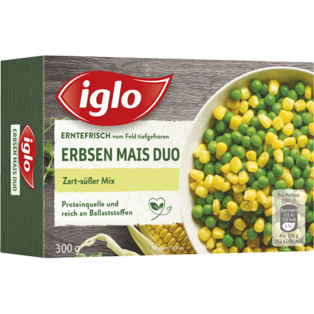 Iglo Erbsen-Mais Duo