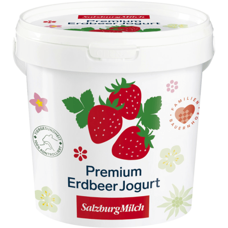 SalzburgMilch Premium Jogurt Erdbeer 1,0 kg