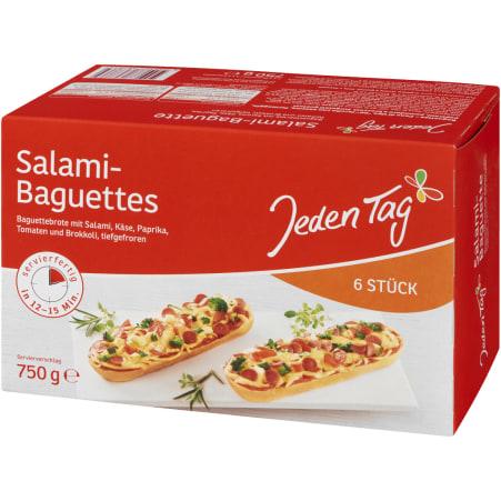 Jeden Tag Baguette Salami 6er-Packung