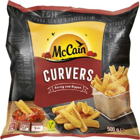 McCain Curvers zum Dippen