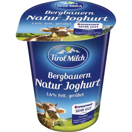 Tirol Milch Bergbauern Naturjoghurt 3,6% gerührt 250 gr
