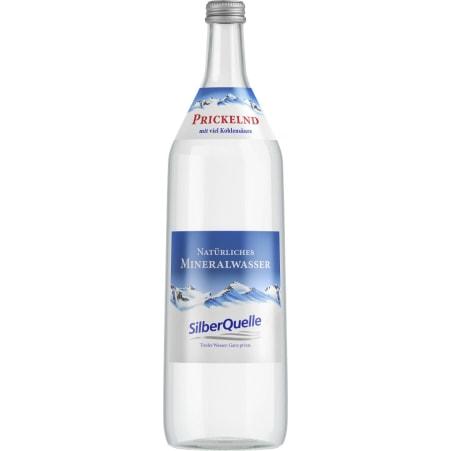 Silberquelle Mineralwasser prickelnd Kiste 6x 1,0 Liter
