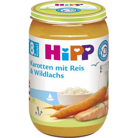 HiPP Karotten mit Reis & Wildlachs 8. Monat