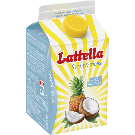 Lattella frucht & molke Kokos-Ananas 0,5 Liter