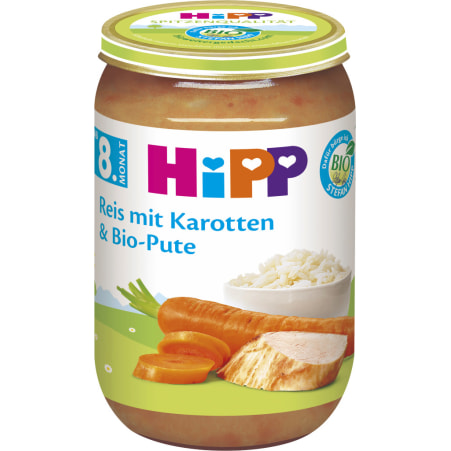 HiPP Reis-Karotten-Pute 8. Monat