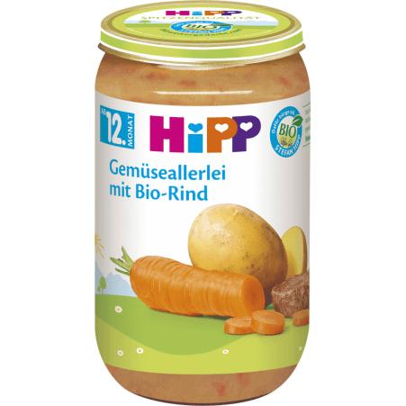 HiPP Bio Gemüseallerlei mit Rind 12. Monat
