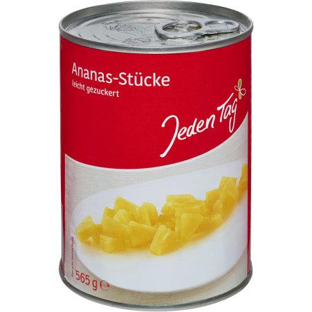 Jeden Tag Ananas-Stücke leicht gezuckert