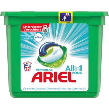 Ariel 3 in 1 Pods Febreze 24 Waschgänge
