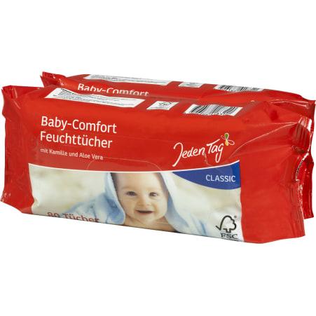 Jeden Tag Baby-Comfort-Feuchttücher Classic 2x 80 Blatt
