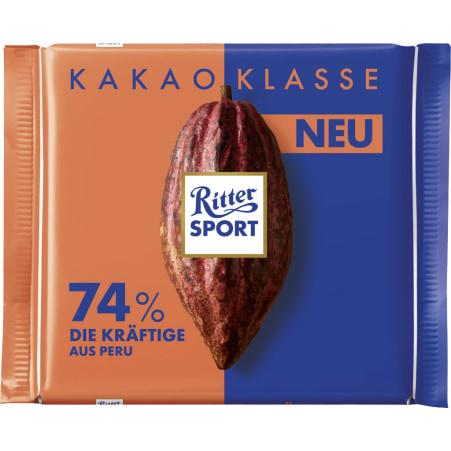RITTER SPORT Schokolade Kakaoklasse 74% Die Kräftige