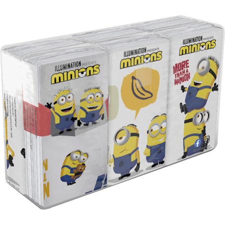 Worldcart Minions Taschentücher 6x 9 Stück 4-lagig