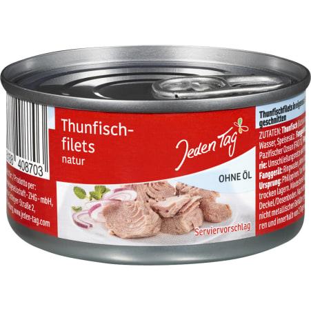 Jeden Tag Thunfischfilets Natur