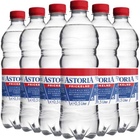 Astoria Mineralwasser prickelnd Tray 6x 0,5 Liter