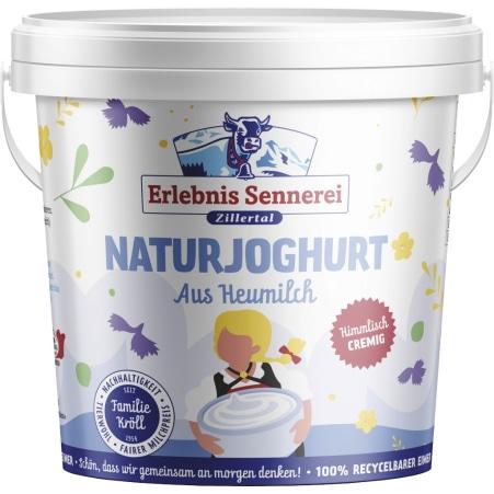 ErlebnisSennerei Zillertal Naturjoghurt Heumilch 3,5% 1,0 kg